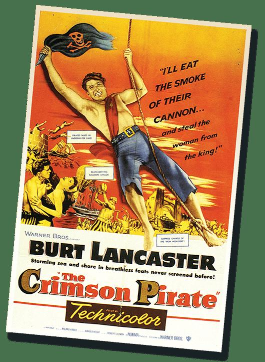 The Crimson Pirate Poster