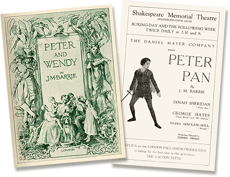Posters for peter Pan stage productions