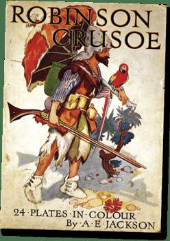 Robinson Crusoe By A.E Jackson Book Cover