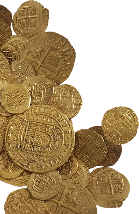 image of pirate coins