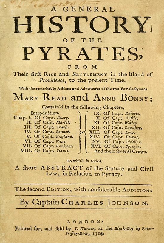 General History of Pyrates Book Cover