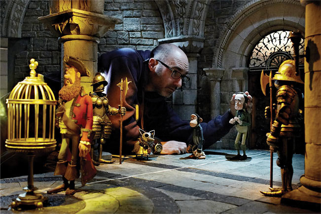 Animator working on the set of on the set of The Pirates! - in an adventure with scientists!