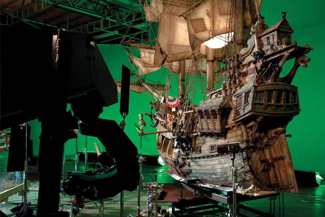 On the set of The Pirates! - in an adventure with scientists!
