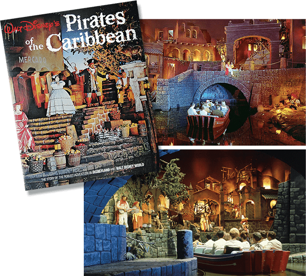 Pictures of the Pirates of the Caribbean theme ride attraction in Disneyland