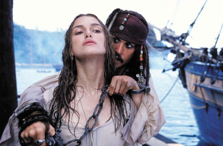 Penélope Cruz as Angelica and Johnny Depp as Jack Sparrow in Pirates Of The Caribbean