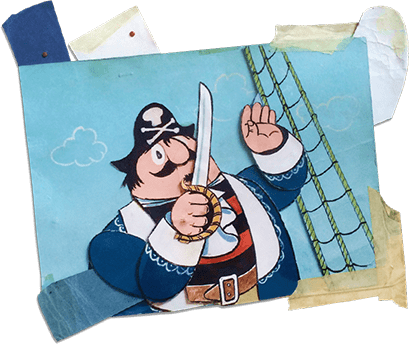 Original animation artwork from Captain Pugwash.