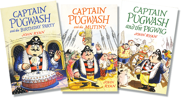 The covers of some of the Captain Pugwash Books