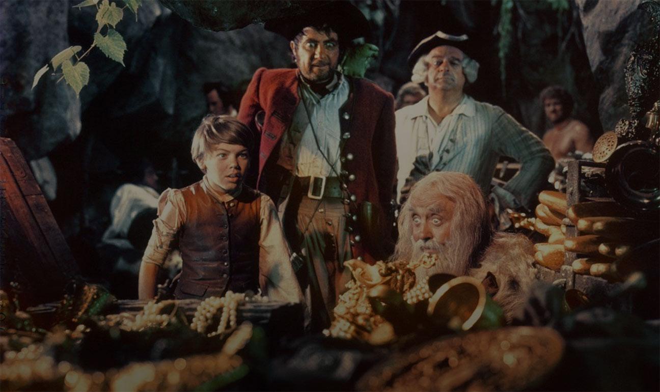 Scene from 1950 version of Treasure Island