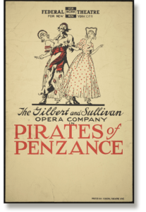 Stage show poster for The Pirates Of Penzance