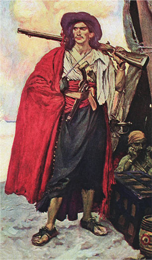 Buccaneer of the Caribbean, illustration by Howard Pyle