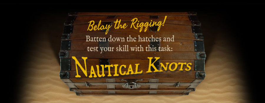 Learn how to tie knots in our Nautical Knots activity.