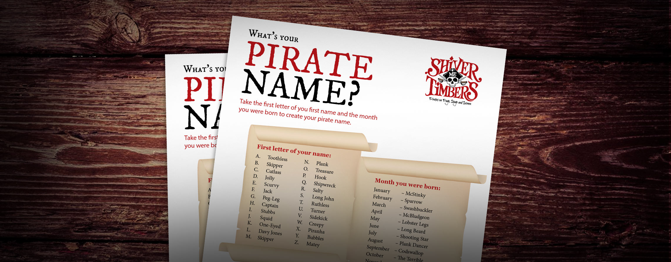 What's Your Pirate Name?