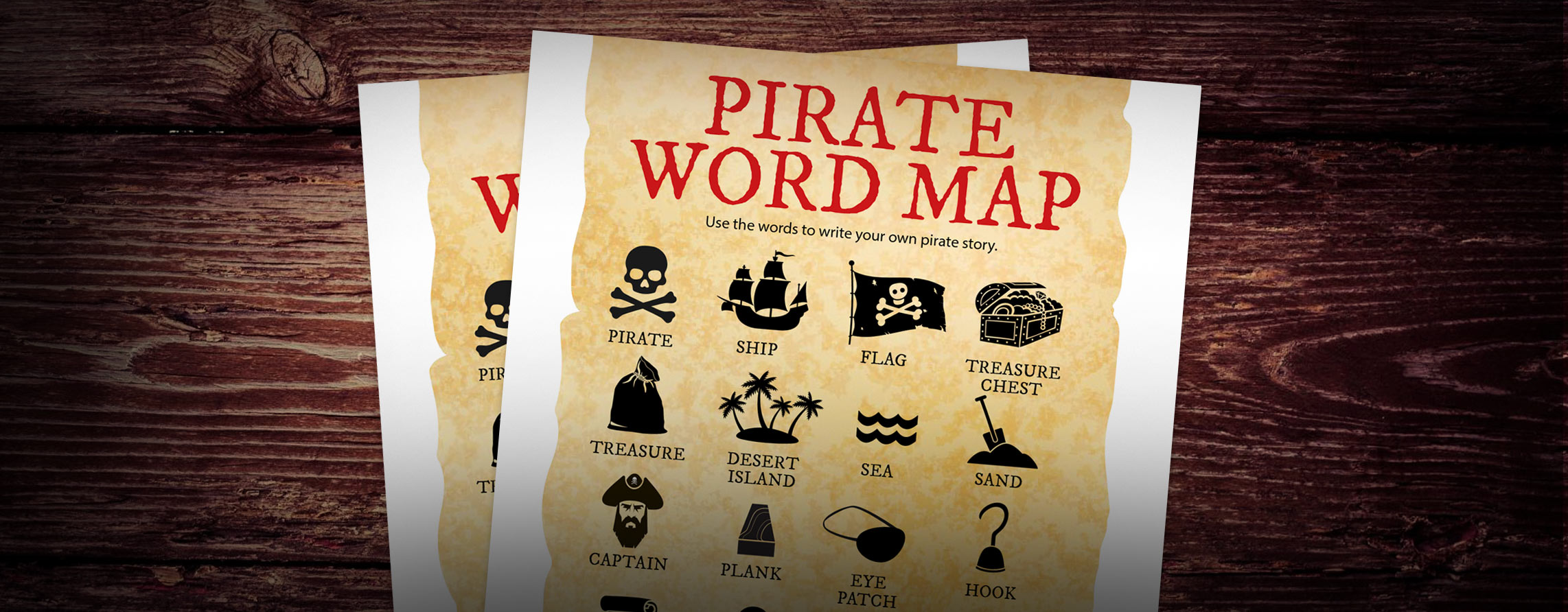 Pirate Word Map