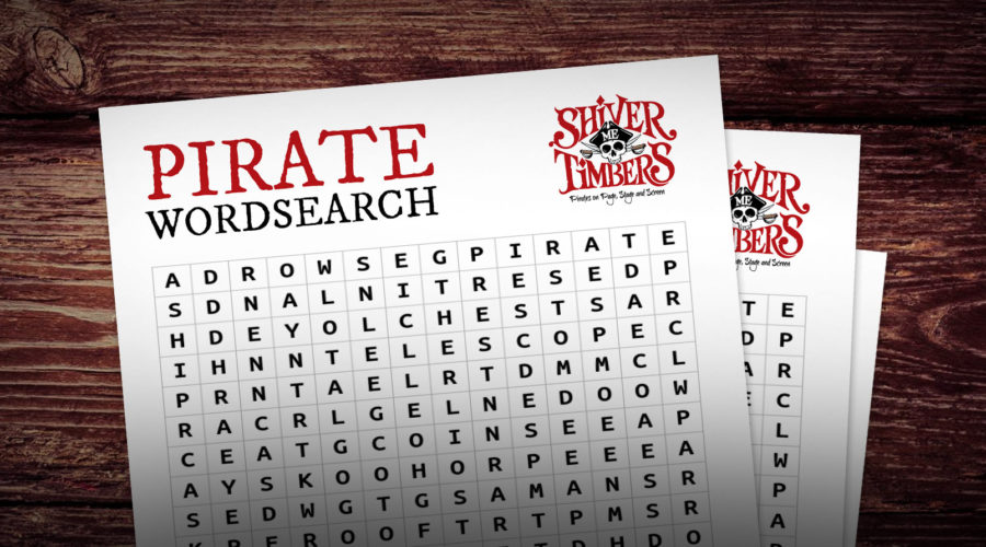 Pirate Wordsearch activity.